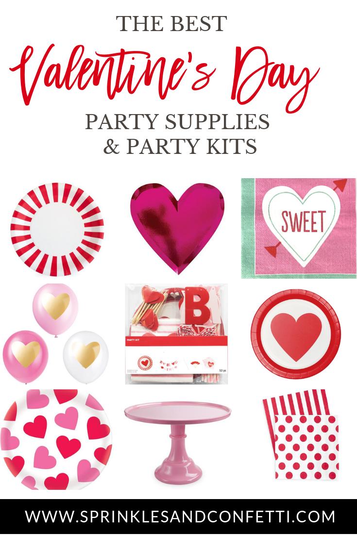 Valentine S Day Party Supplies Kits Valentines Day Party Valentines Party Romantic Valentines Gift