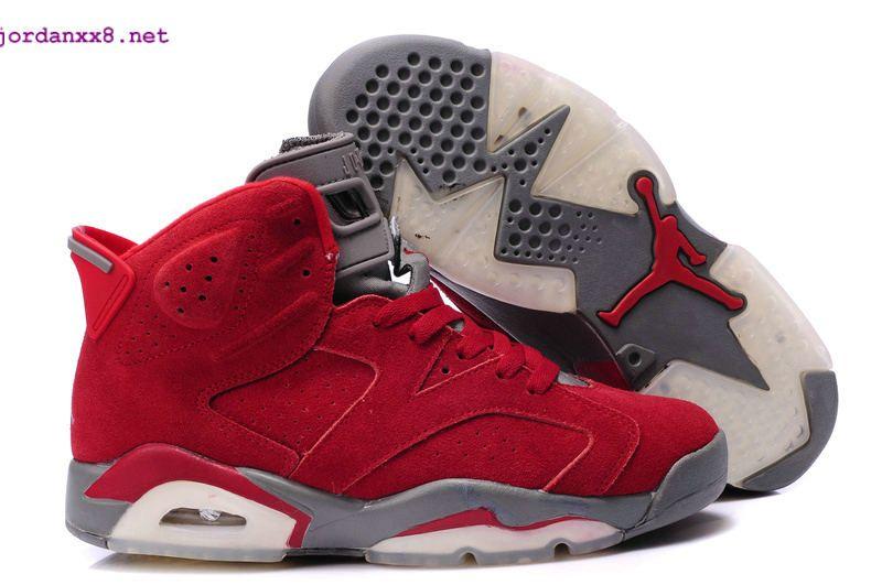 New Air Jordan 6 Suede Varsity Red Metallic Silver White Basketball Shoes  #nike #jordans