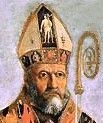 Zeno of Verona wearing a mitre.
