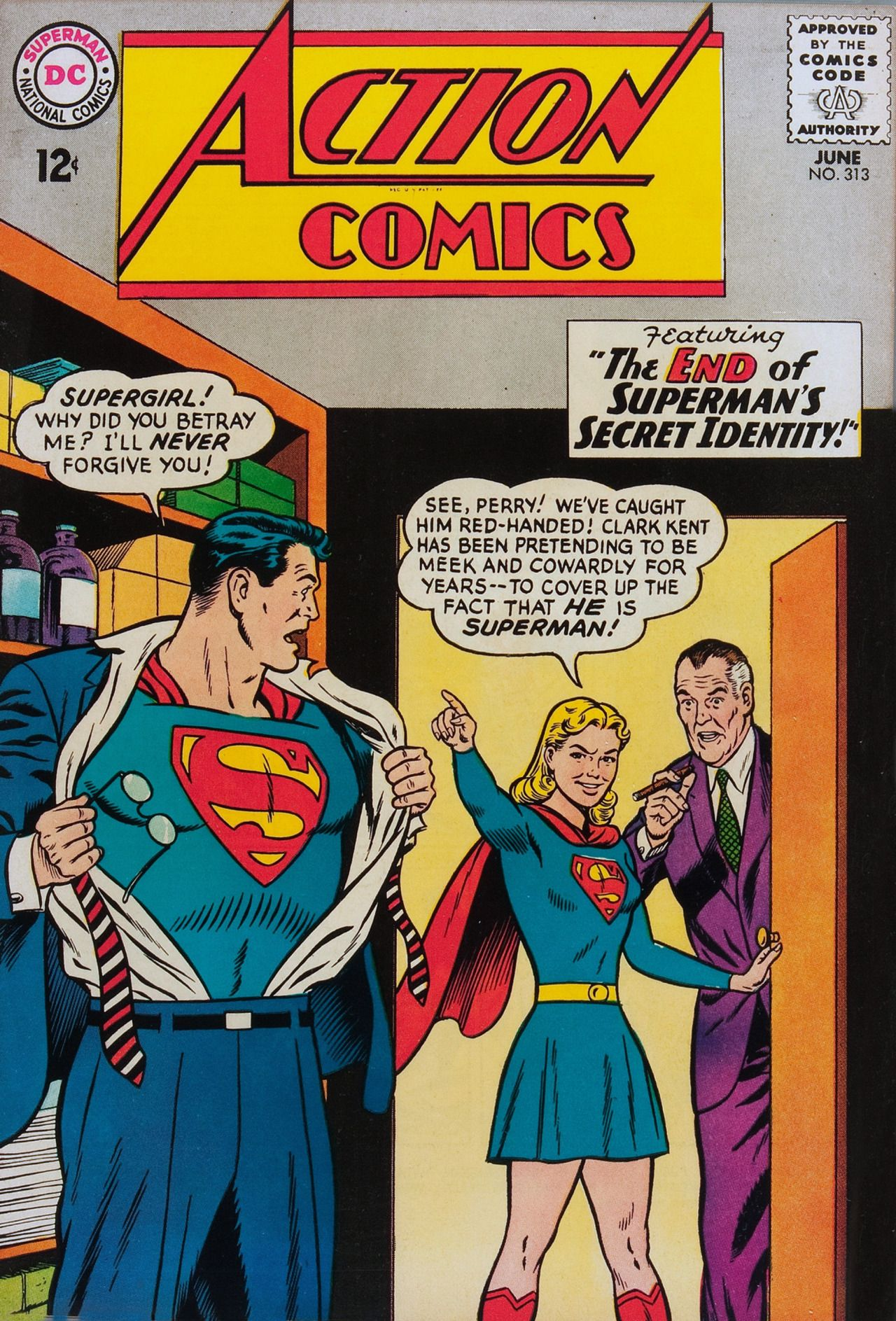 Action Comics 313 1964 Curt Swan And George Klein Visit To