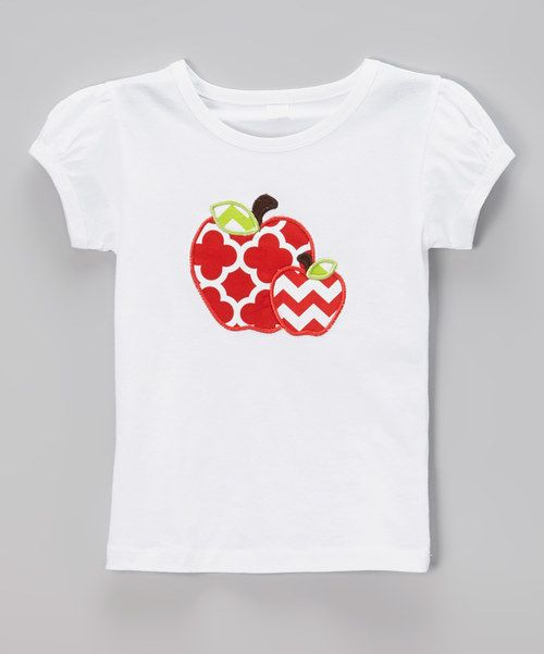 Look at this White Zigzag Apple for the Teacher Tee - Infant, Toddler