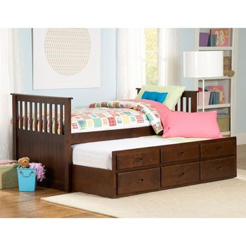 Casainc Twin Trundle Bed With Storage White Twin Bed Frame With Storage Lowes Com Solid Wood Platform Bed Twin Platform Bed Frame Trundle Bed With Storage