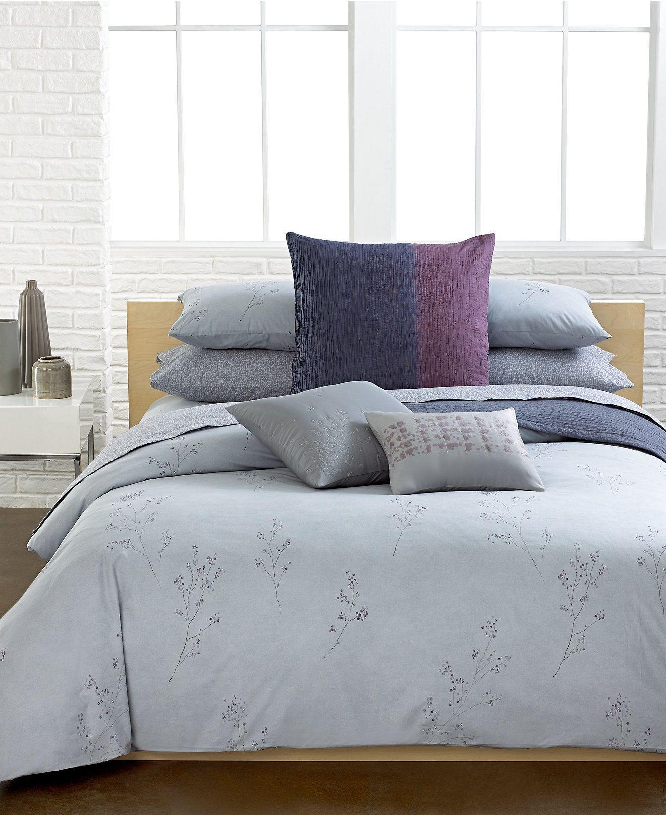 Calvin Klein Bedroom Furniture Calvin Klein Home Winter Branches Bedding Collection Bedding