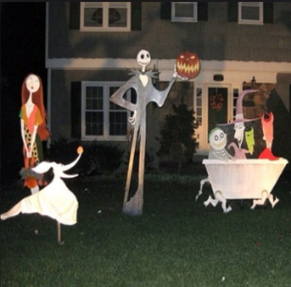 nightmare before christmas decorations awesome - Nightmare Before Christmas Lawn Decorations