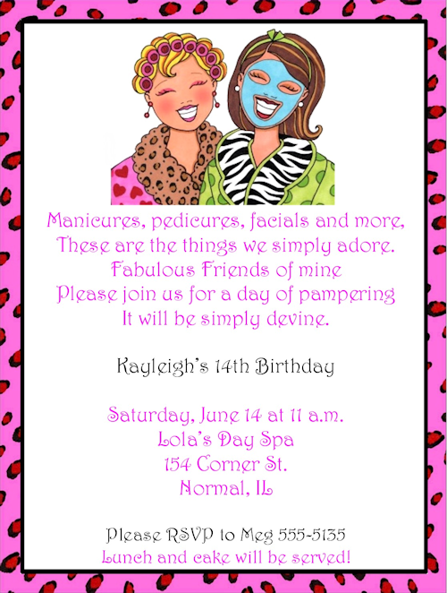 Glamour Girls Makeup Birthday Party Invitations – Party Invitations for Girls