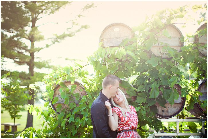Stones Throw Winery Door County Engagement Photos By
