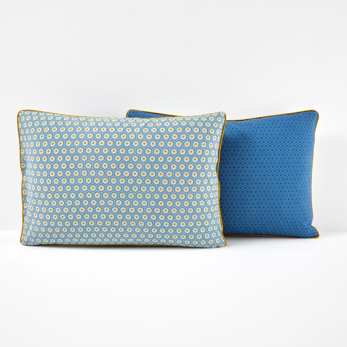 Taie D Oreiller Coton Pop Mozaic Taille 63x63 Cm 50x70 Cm Taie D Oreiller Couleur Bleu Turquoise Et Drap Plat