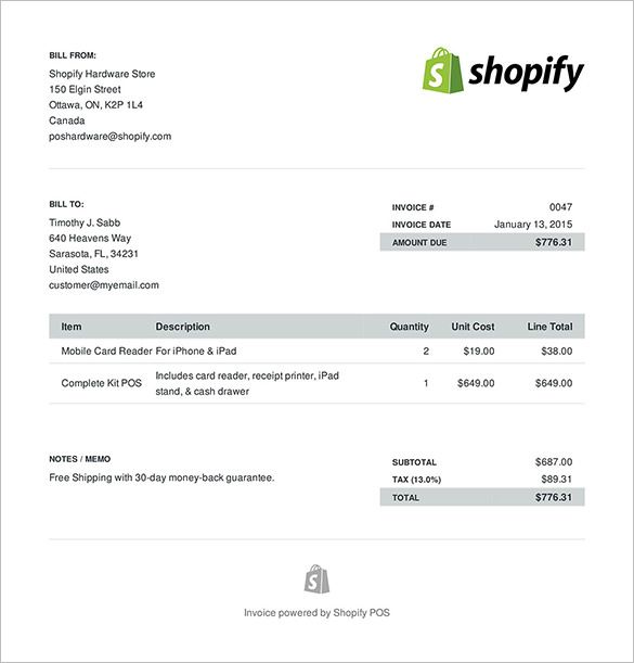 Sample Ecommerce Invoice Format , Invoice Template for Mac Online - bill sample microsoft