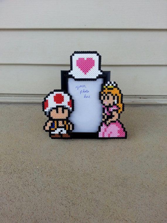 Toad and Princess Peach Picture Frame  Couples por BurritoPrincess