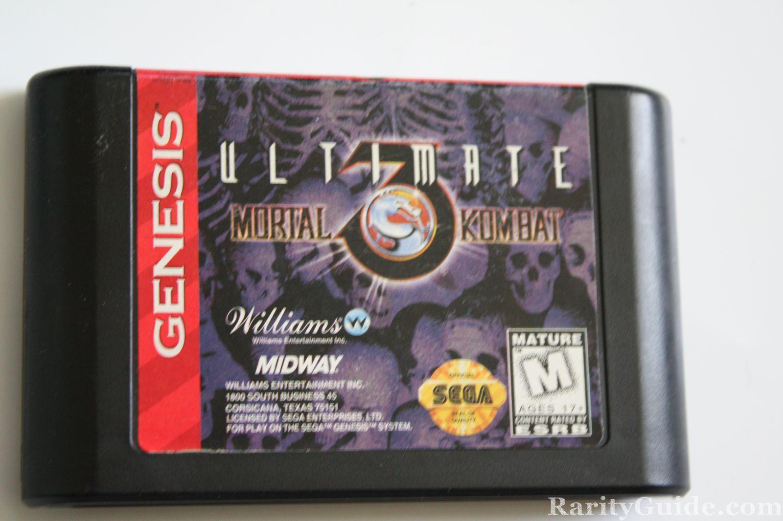 Cartucho De Juego Mortal Kombat 3 Ultimate Para Sega Genesis