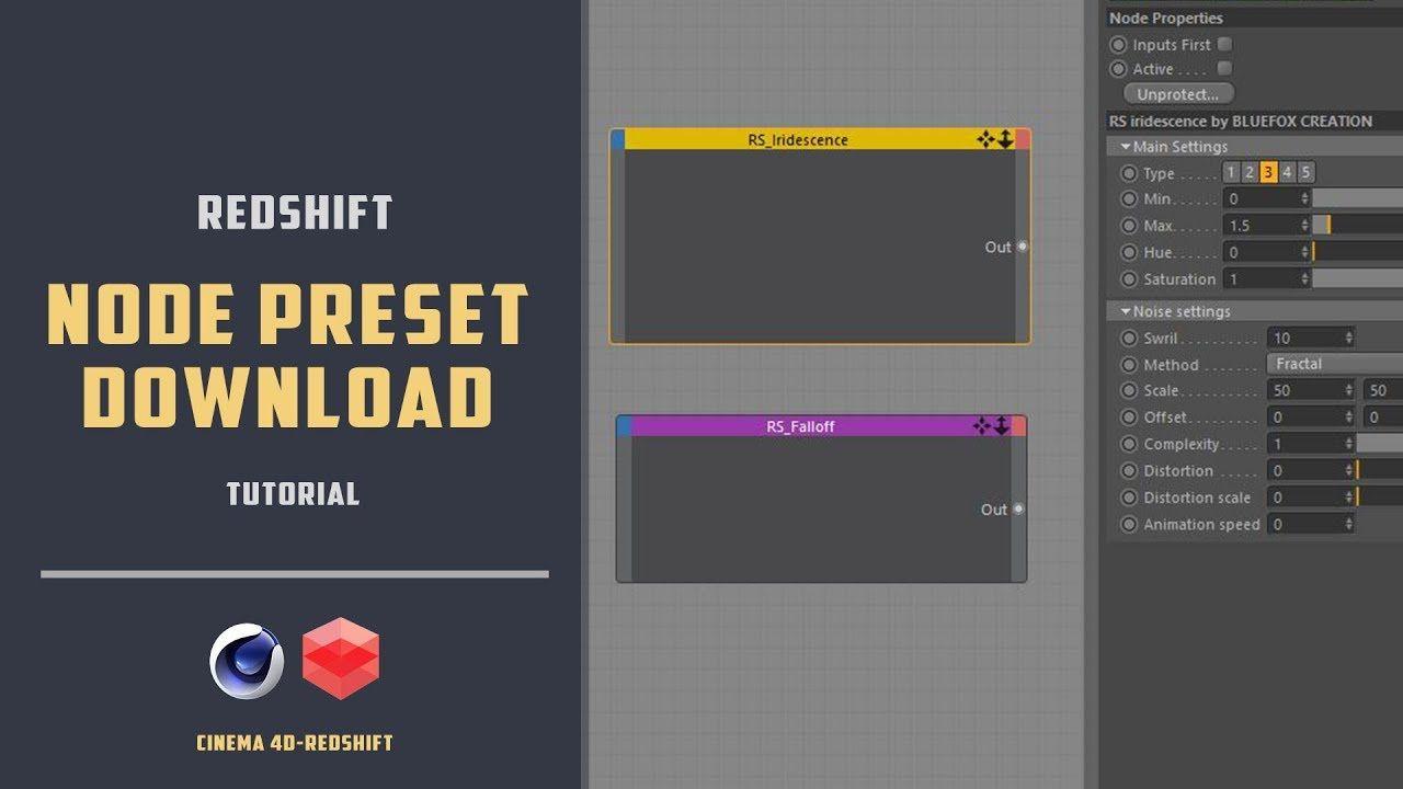 Redshift-c4d Node preset download[CINEMA 4D TUTORIAL] - YouTube