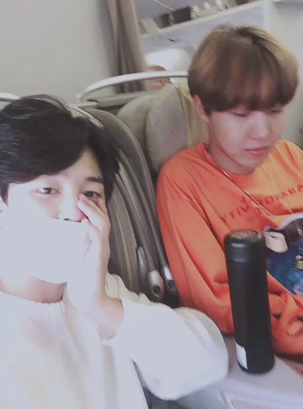 Jimin and Jhope ❤ [Bangtan Trans Tweet] 오랜만에 호석이형이랑 #JIMIN \ Its been a long time, with Hoseokie Hyung #BTS #방탄소년단