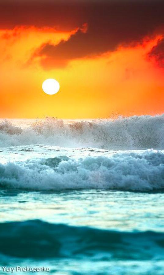 Ocean Sunrise Beach Landscape Ocean Landscape Beautiful Sunrise