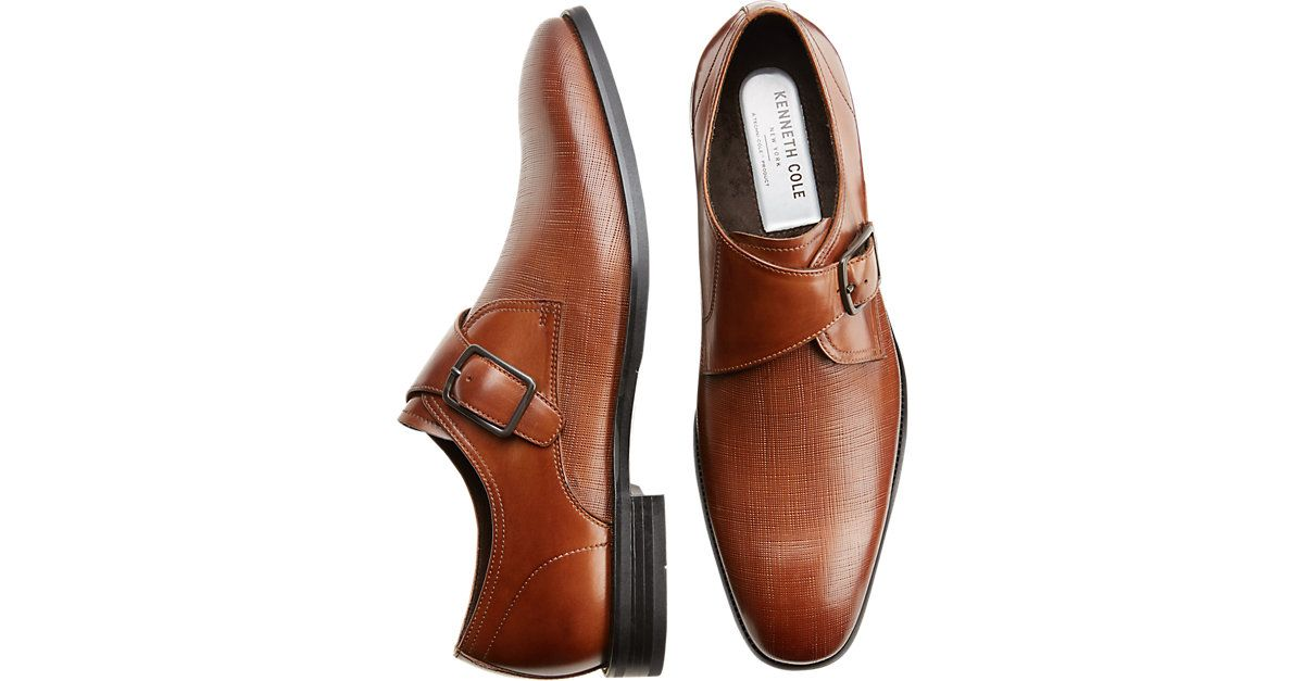 e47e9291d3e1 Kenneth Cole TECHNI-COLE Golden Tan Ticket Monk Strap Dress Shoes - Men s  Dress Shoes from MensWearhouse.  MensWearhouse Sz 10
