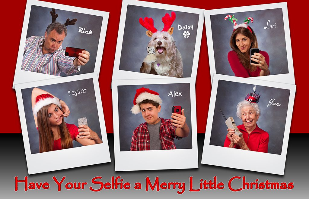 Clever Christmas Cards Ideas.Xmas Card Ideas Selfie Xmas Ho Hum Cards Cool Photo