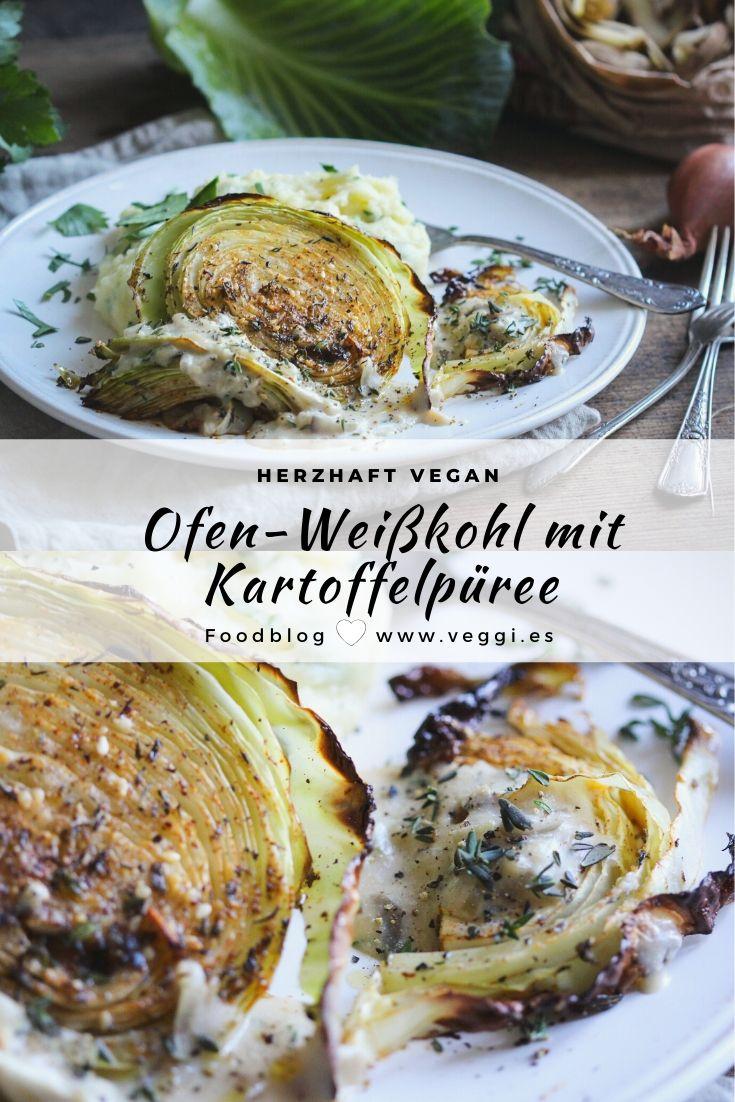 Ofen-Weißkohl mit Püree und Zwiebel-Béchamel