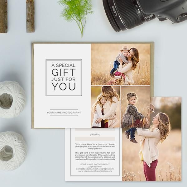 Photography Studio Gift Certificate Templates, Gift Card Templates - photography gift certificate template