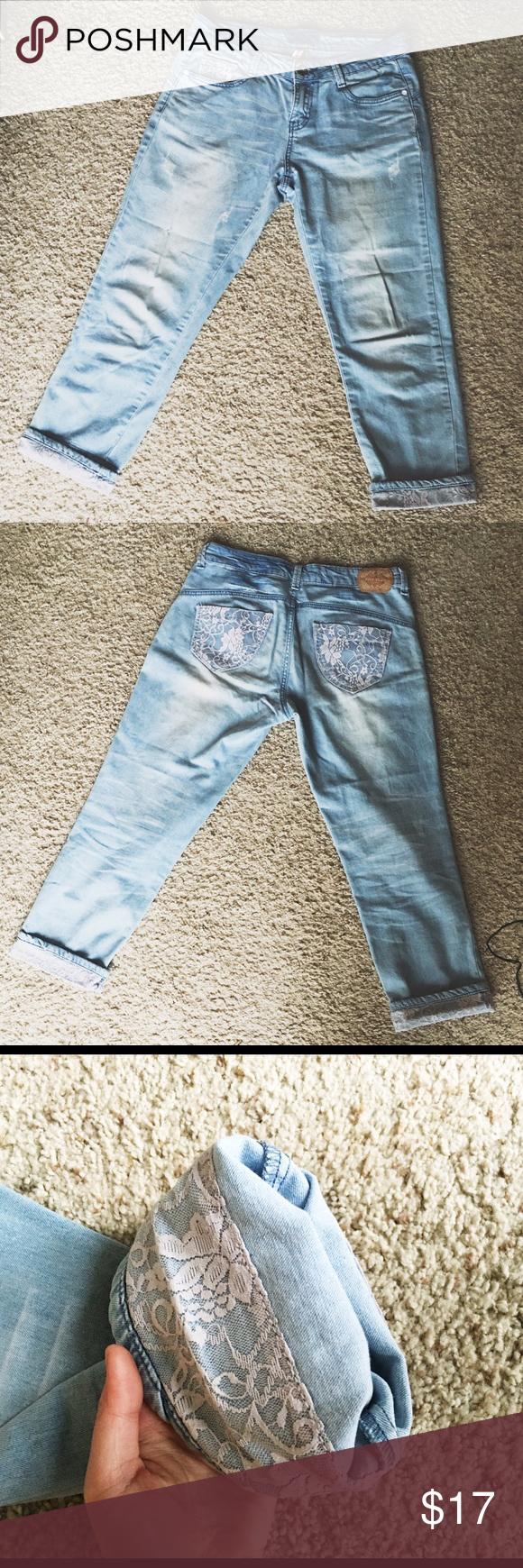 Five Plus Ankle Jeans Vintage boyfriend style cute jeans. In good condition. Very comfy! Five Plus Jeans Boyfriend