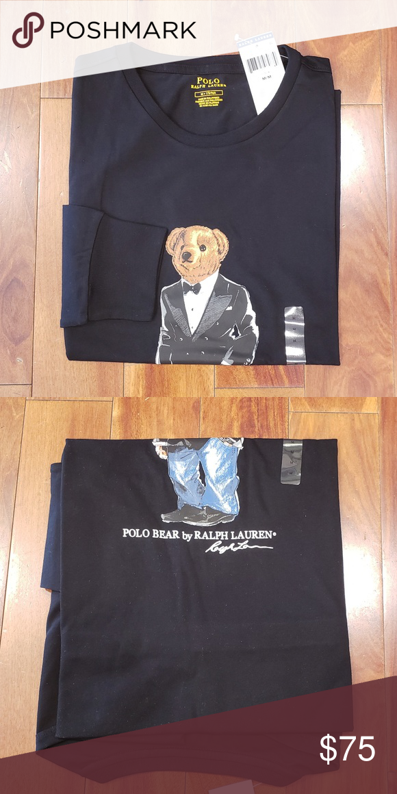 9e5e219cd Polo Ralph Lauren Polo Bear Long Sleeve T-shirt Limited Edition Black Long  Sleeve Tuxedo Bear t-shirt Price is firm. No offers will be accepted.