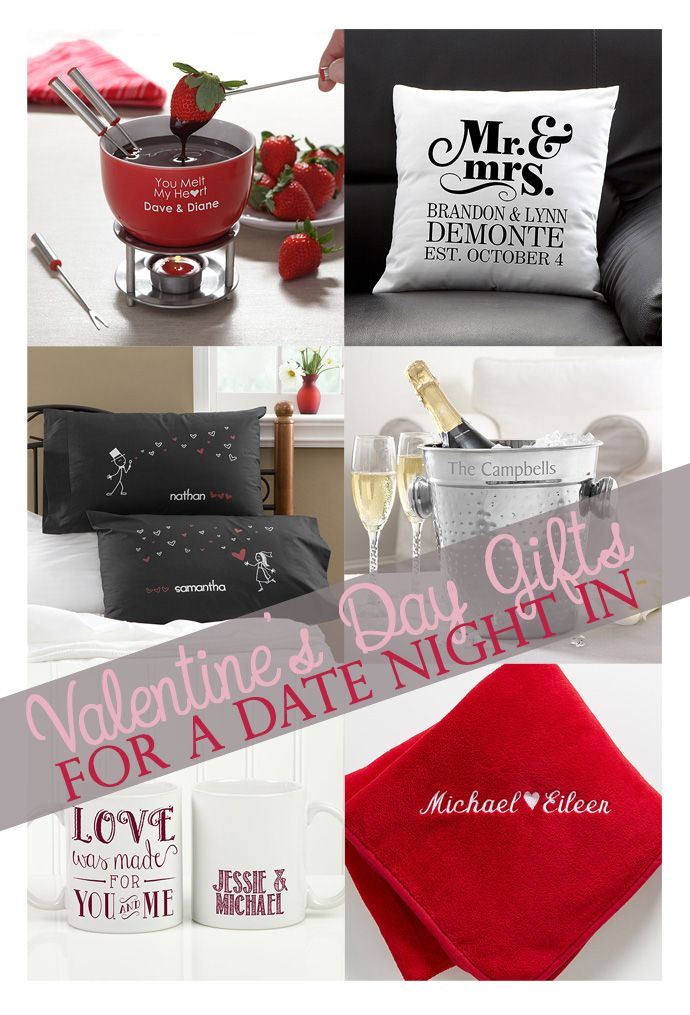 Valentine's Day gifts for a date night at home.  Skip the crowds and snuggle up at home this year!