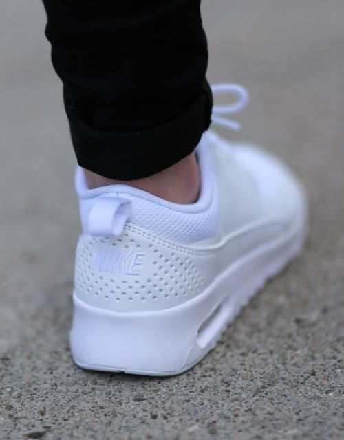 Girls Black & White Nike Air Max Thea Toddler Trainers schuh