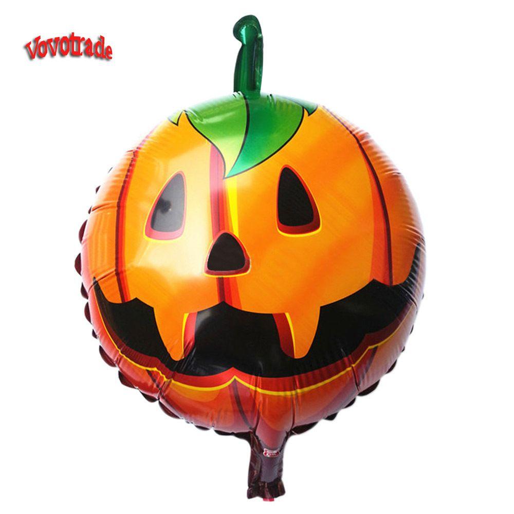 2015 New Arrival halloween decoration Halloween pumpkin head Decorative Foil Balloons Gifts