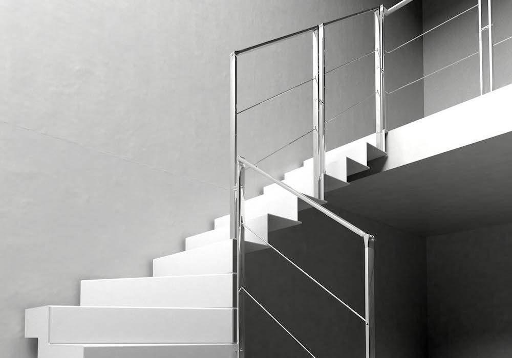 Escalera de tramos Itron Laser - Decoración en estado puro Enescaes - decoracion de escaleras
