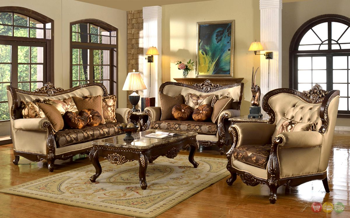 marvellous traditional formal living room furniture | Details about Antique Style Traditional Wing Back Formal ...