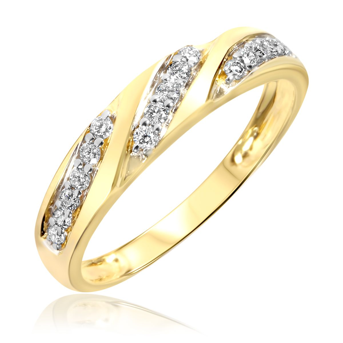 1/4 Carat T.W. Diamond Women's Wedding Ring 14K Yellow ...