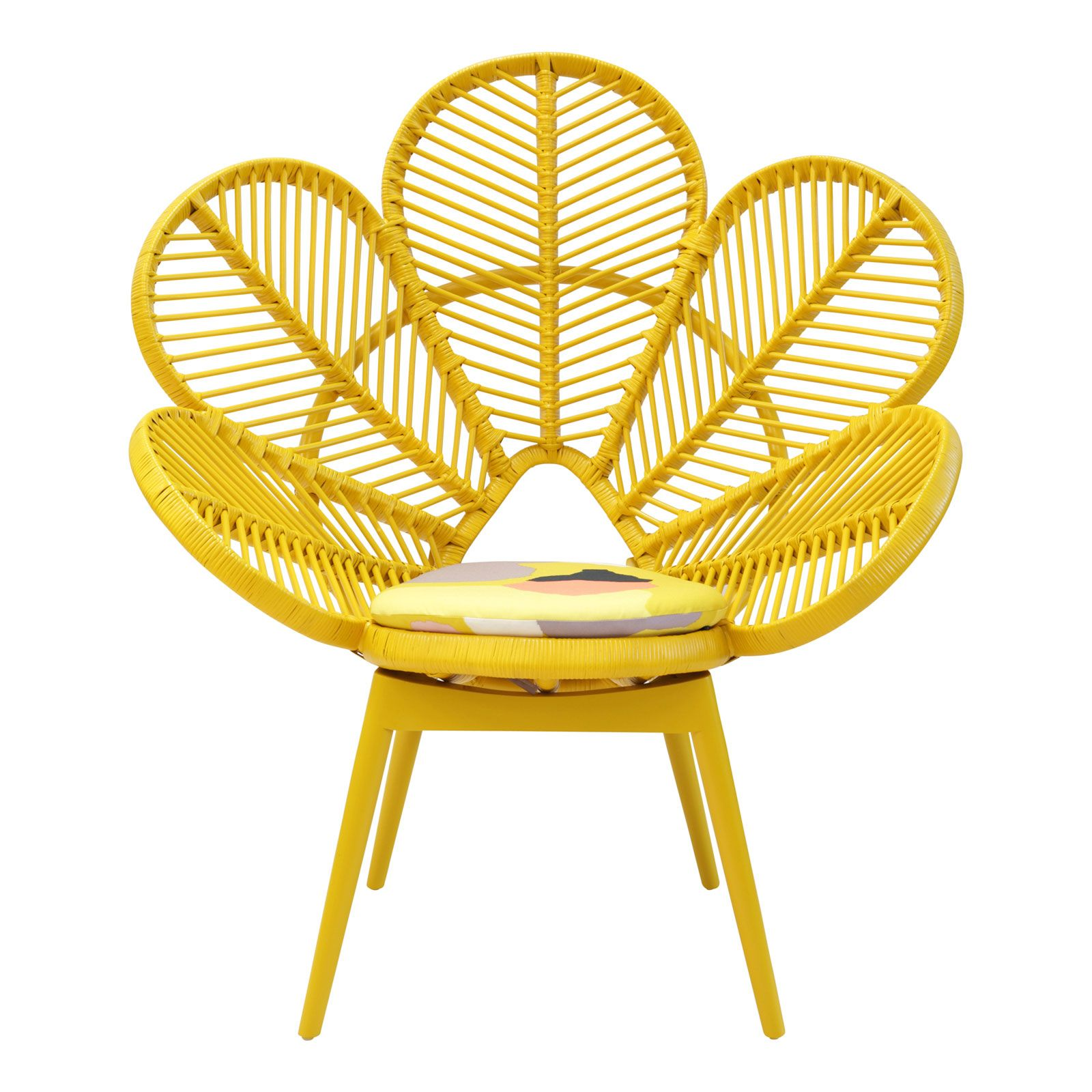 Love Chair Mustard   Boho in Yellow   Love chair Chair y Rattan furniture