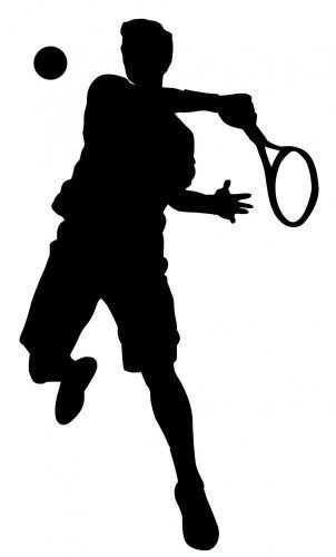 Wallmonkeys Sports Silhouette Wall Decal Tennis Style 14 - 48H x 29W - Peel and Stick Wall Decal by Wallmonkeys by Wallmonkeys Wall Decals ...  sc 1 st  Pinterest & Wallmonkeys Sports Silhouette Wall Decal Tennis Style 14 - 48H x 29W ...
