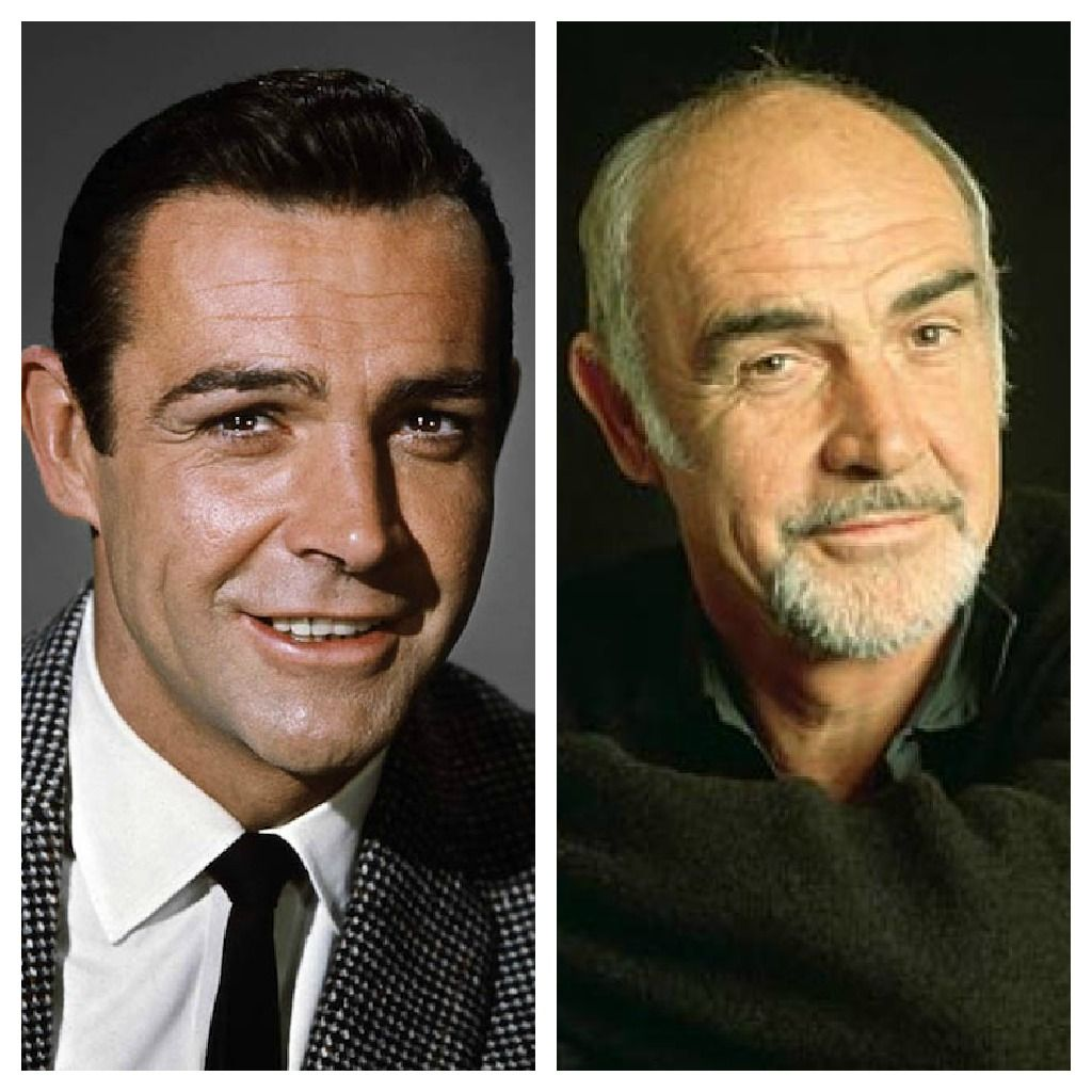 Sean Connery ~ Then and Now ~ Some people are fortunate in aging very well and he is a fine example, yes he is!