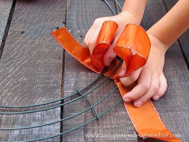 Ribbon Wreath -   25 ribbon crafts thanksgiving ideas