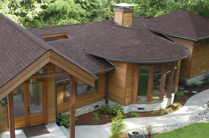 Best Highlander® Nex™ – Antique Brown Roof Shingles Cedar Homes House Exterior 400 x 300