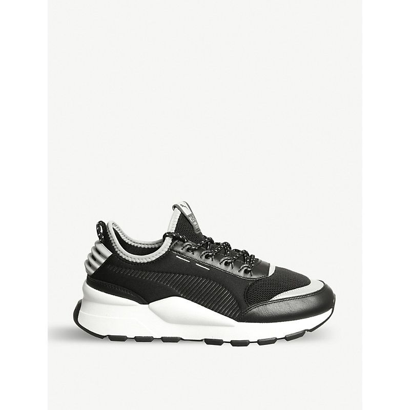 Rs-o Sound Leather Trainers In White White Silver | Leather ...