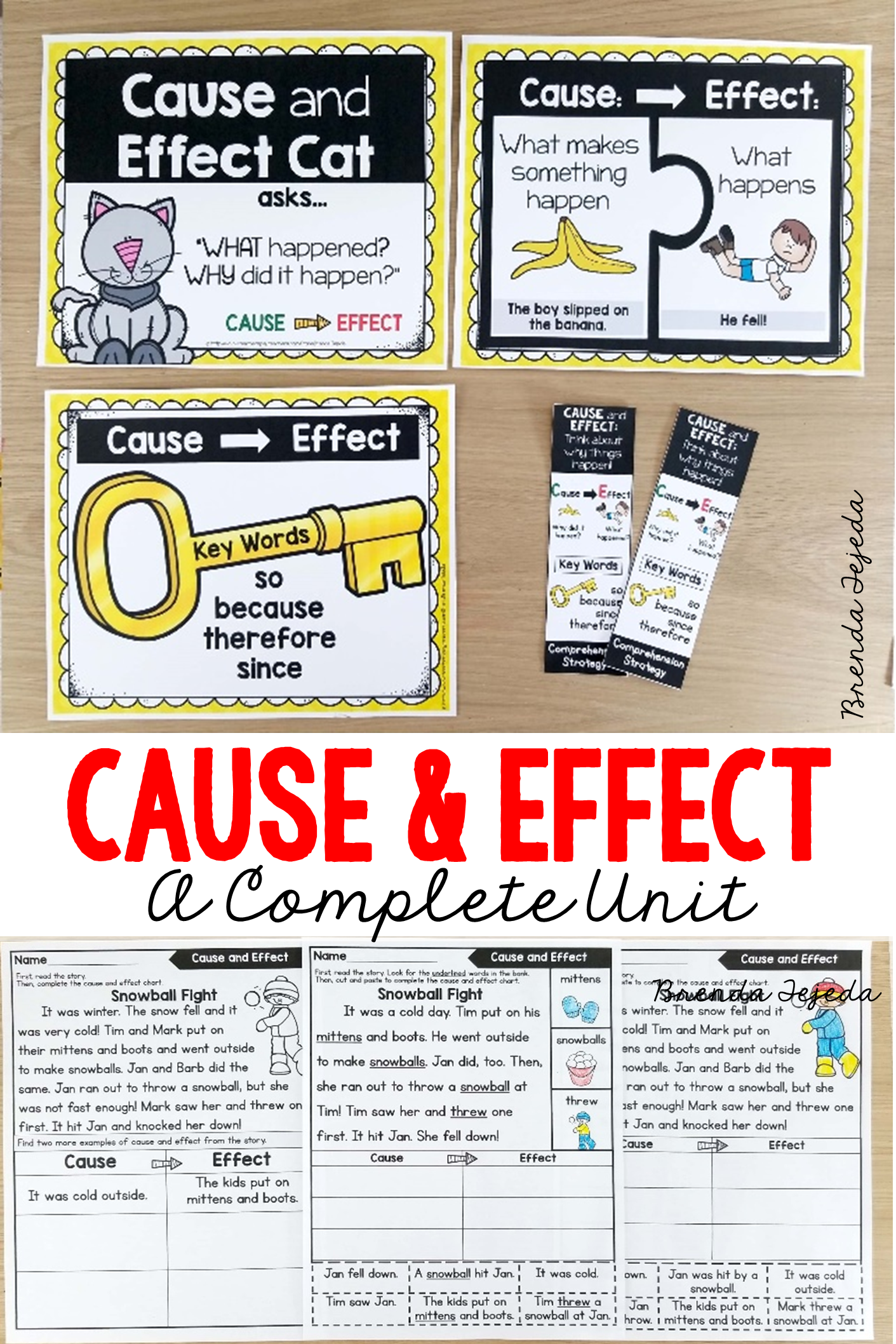 Cause And Effect Comprehension Strategy Bundle With