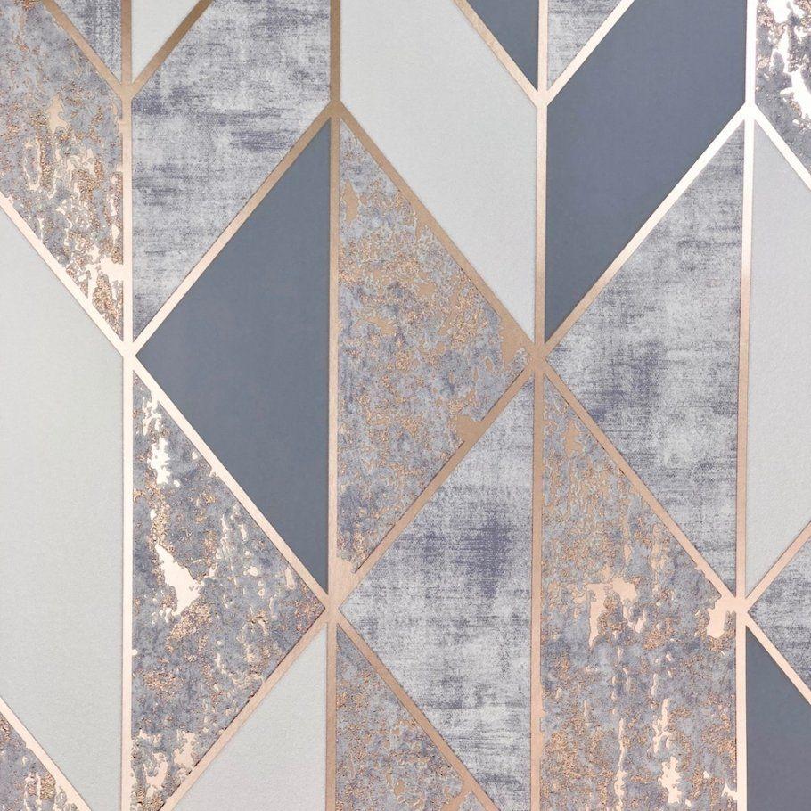 Superfresco Milan Geo Rose Gold Wallpaper 106407 Rose Gold Wallpaper Silver Wallpaper Gold Wallpaper