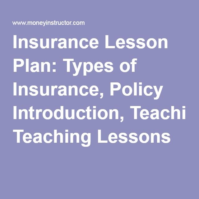 Insurance Lesson Plan Types Of Insurance Policy Introduction