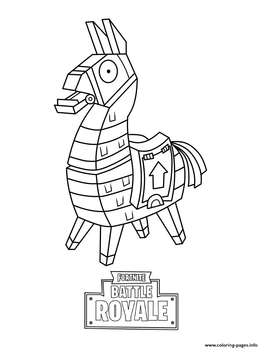 Iconic Fortnite Coloring Pages