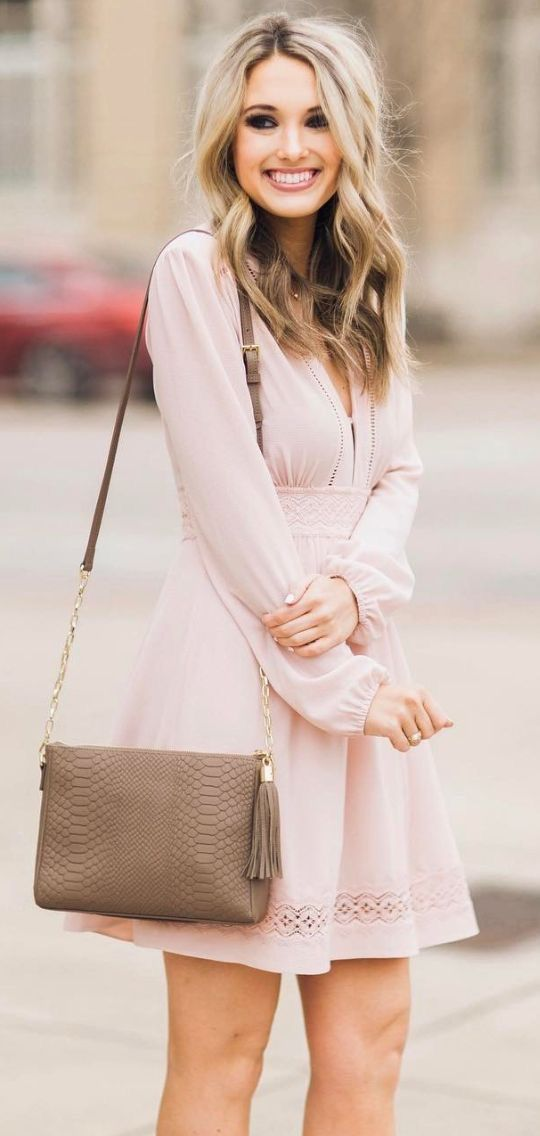 381df2d0e956 Nude and Blush Sexy Dresses in 2019 | Nude Dresses | Fashion, Pink ...