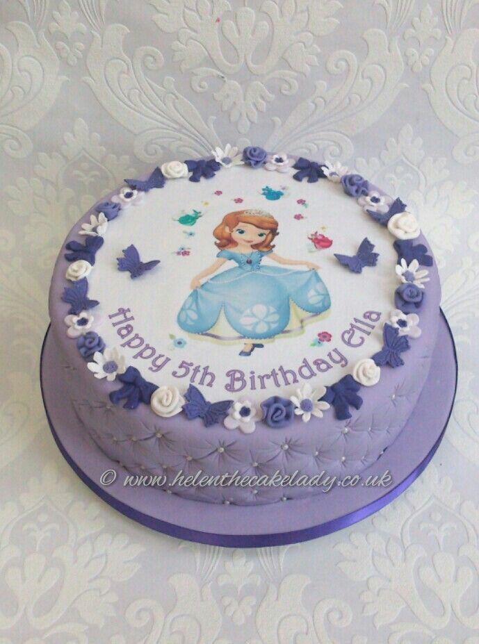 Incredible Sophia The First Girls Birthday Cake Sofia The First Birthday Birthday Cards Printable Opercafe Filternl