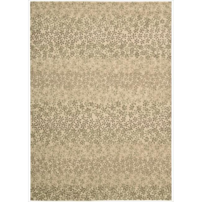 "Nourison Home Metropolitan Beige Floral Rug (2'3"" x 3'9"") (1), Size 2'3"" x 3'9"" (New Zealand Wool, Abstract)"