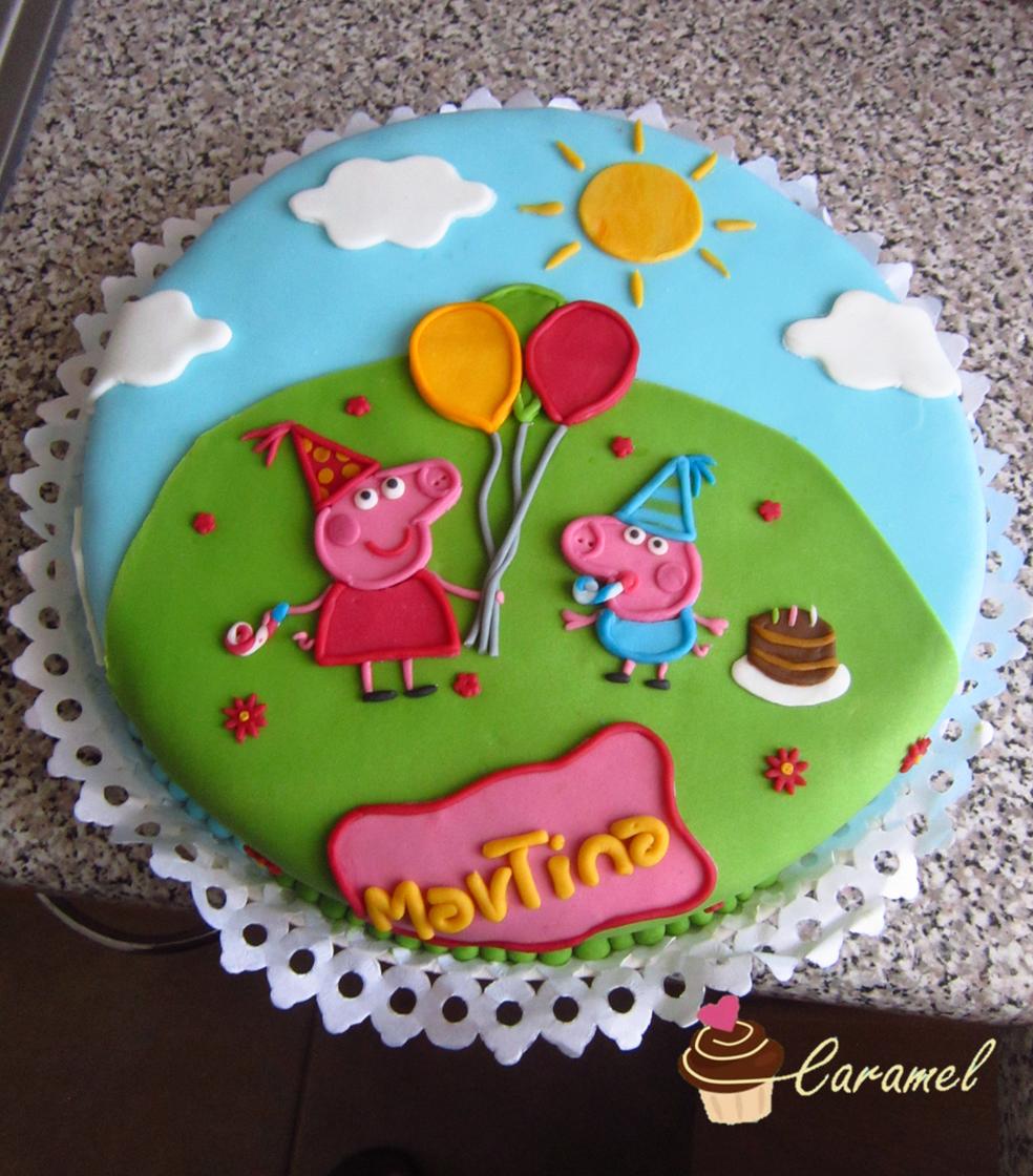 Peppa pig cake, Torta fondant, peppa pig