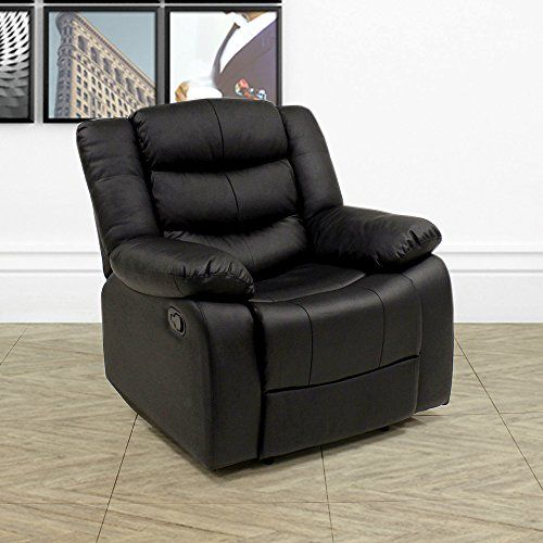 Lazy Boy Leather Style Recliner Chair Living Room Recliners Furniture Home Office Furniture House Furniture Design