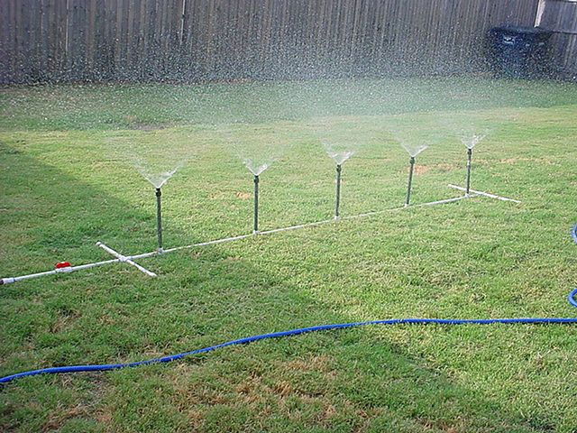 Homemade pvc water sprinkler photos and