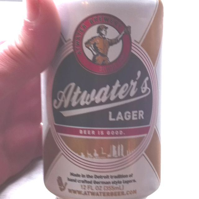 Atwater's lager. Just came with my Burger. Never heard of these guys