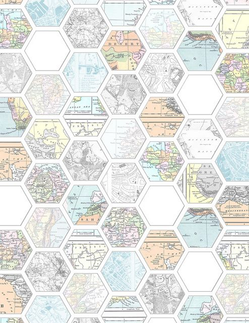 graphic about Printable Hex Paper named Hexagon maps A2 image design and style determination Printable
