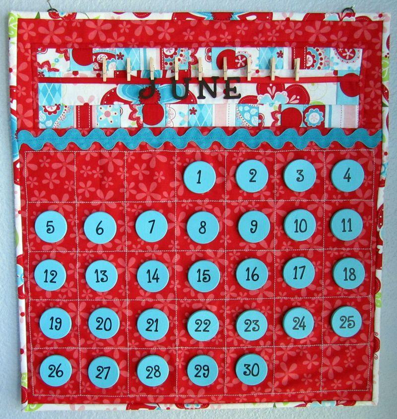 Perpetual Magnetic Calendar HttpThequiltedfishTypepadComThe
