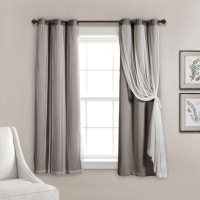 52 X84 Insulated Back Tab Blackout Window Curtain Panels Dark