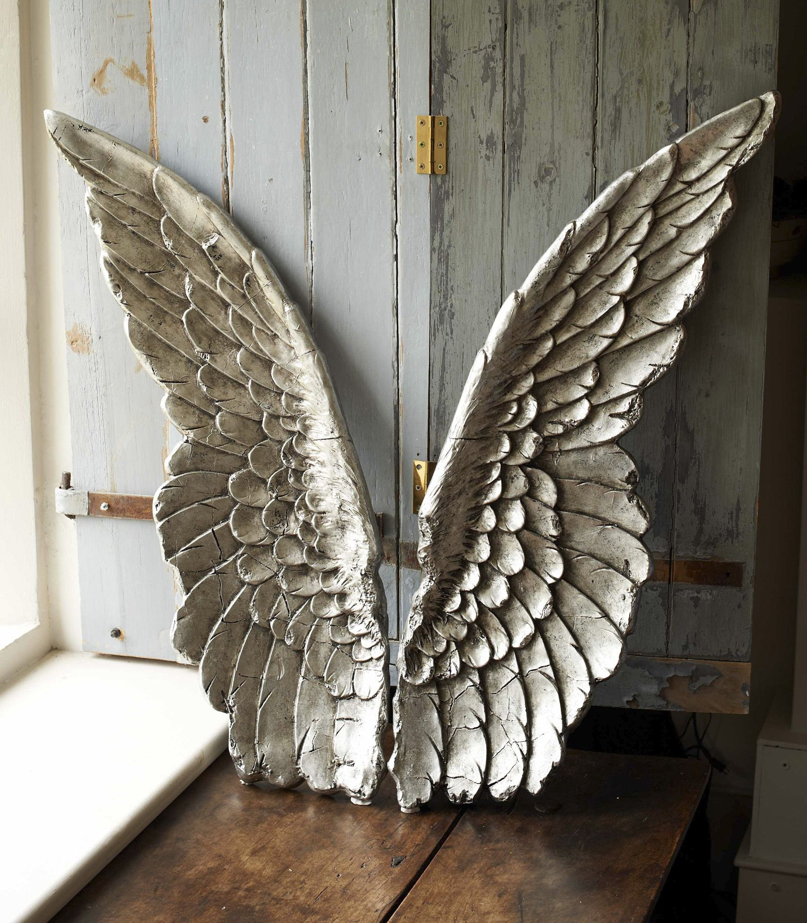 Angel wings wall art angel wings and angel for Angel wings wall decoration uk